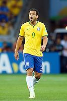 Fred of Brazil looks dejected