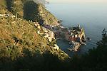 Village de Vernazza Parc national des Cinque Terre. Ligurie. Italie.