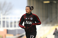 Lizzie Arnot (Manchester United Women) during the English Womens Championship match between Manchester United Women and Leicester City Women at Leigh Sports Village, Leigh, England on 10 March 2019. Photo by James Gill / PRiME Media Images.
