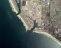 aerial map of Port Hueneme and Channel Islands Harbor Oxnard, Ventura County, California