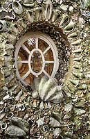Even the exterior of the pavilion at Goodwood is encrusted with shells and local pebbles