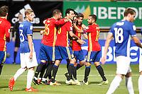 Spain's Sergio Ramos, Sergio Busquets, Diego Costa, Sergi Roberto and Jordi Alba celebrate goal during FIFA World Cup 2018 Qualifying Round match. September 5,2016.(ALTERPHOTOS/Acero) /NORTEPHOTO