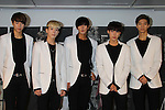 HISTORY, Aug 26, 2015 : South Korean pop group HISTORY attends the promotional event in Tokyo, Japan on August 26, 2015. (Photo by AFLO)