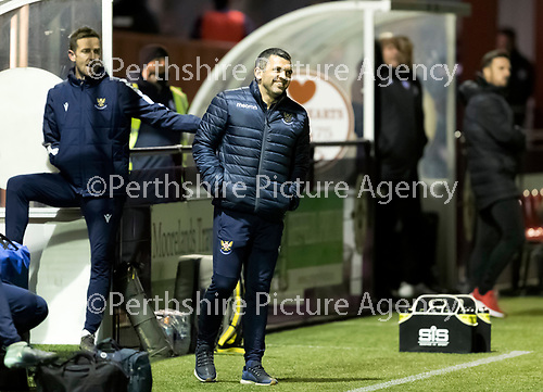 Kelty Hearts v St Johnstone…07.10.20   New Central Park  Betfred Cup<br />All smiles from saints boss Callum Davidson<br />Picture by Graeme Hart.<br />Copyright Perthshire Picture Agency<br />Tel: 01738 623350  Mobile: 07990 594431