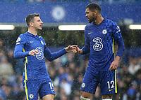 Mason Mount and Ruben Loftus-Cheek of Chelsea during Chelsea vs Southampton, Premier League Football at Stamford Bridge on 2nd October 2021