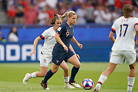 PARIS, FRANCE - JUNE 28: Eugénie Le Sommer #9 during a 2019 FIFA Women's World Cup France quarter-final match between France and the United States at Parc des Princes on June 28, 2019 in Paris, France.