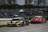 #57 Heinricher Racing w/Meyer Shank Racing Acura NSX GT3, GTD: Katherine Legge, Christina Nielsen, #9 PFAFF Motorsports Porsche 911 GT3 R, GTD: Scott Hargrove, Zacharie Robichon
