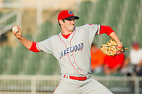 Starting pitcher Joshua Zeid #32 of the Lakewood BlueClaws in action against the Kannapolis Intimidators at Fieldcrest Cannon Stadium July 14, 2010, in Kannapolis, North Carolina.  Photo by Brian Westerholt / Four Seam Images