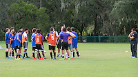 Orlando, FL - Friday Oct. 14, 2016:   A candidate provides instruction during a US Soccer Coaching Clinic in Orlando, Florida.
