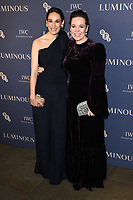 Sian Clifford and Olivia Colman<br /> arriving for the LUMINOUS Gala 2019 at the Roundhouse Camden, London<br /> <br /> ©Ash Knotek  D3522 01/10/2019