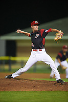 Batavia Muckdogs relief pitcher Hunter Wells (40) during a game against the West Virginia Black Bears on August 20, 2016 at Dwyer Stadium in Batavia, New York.  Batavia defeated West Virginia 7-2. (Mike Janes/Four Seam Images)