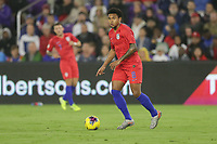 ORLANDO, FL - NOVEMBER 15: Weston McKennie #8 of the Unites States dribbles with the ball during a game between Canada and USMNT at Exploria Stadium on November 15, 2019 in Orlando, Florida.