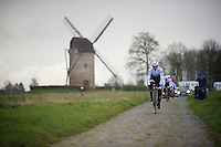 Fabian Cancellara (SUI/Trek-Segafredo) in sector 7: Templeuve (Moulin-de-Vertain)<br /> <br /> recon of the 114th Paris - Roubaix
