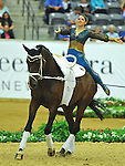 7 October 2010: Sarah Kay (GER) competes during Vaulting in the World Equestrian Games in Lexington, Kentucky