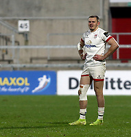 6 March 2021; Jacob Stockdale during the Guinness PRO14 match between Ulster and Leinster at Kingspan Stadium in Belfast. Photo by John Dickson/Dicksondigital