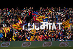 FC Barcelona supporters during the La Liga 2017-18 match between FC Barcelona and RC Celta de Vigo at Camp Nou Stadium on 02 December 2017 in Barcelona, Spain. Photo by Vicens Gimenez / Power Sport Images