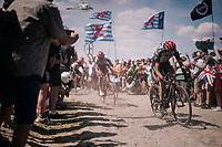 Dan Martin (IRE/UAE) on pavé sector #4<br /> <br /> Stage 9: Arras Citadelle > Roubaix (154km)<br /> <br /> 105th Tour de France 2018<br /> ©kramon