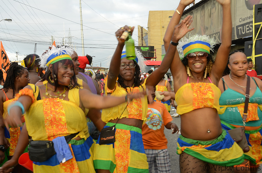 Carnival in Port of Spain, Trinidad, Caribbean. Images include Calypso, Kings, Queens, Jouvet, Playing Mas, Parades, Costumes.