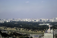 Tokyo: Panorama--looking northeast from Kasumigaseki Building. Photo '81.