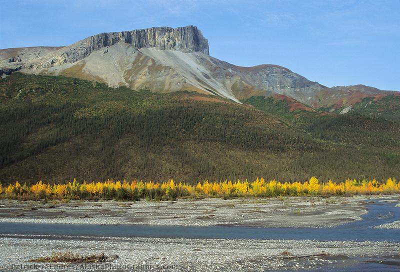 Autumn landscape of the Dietrich River and the Brooks Range, Arctic Alaska