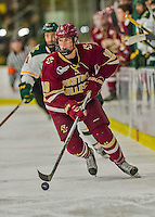 20 February 2016: Boston College Eagle Forward Christopher Brown, a Freshman from Bloomfield Hills, MI, in second period action against the University of Vermont Catamounts at Gutterson Fieldhouse in Burlington, Vermont. The Eagles defeated the Catamounts 4-1 in the second game of their weekend series. Mandatory Credit: Ed Wolfstein Photo *** RAW (NEF) Image File Available ***