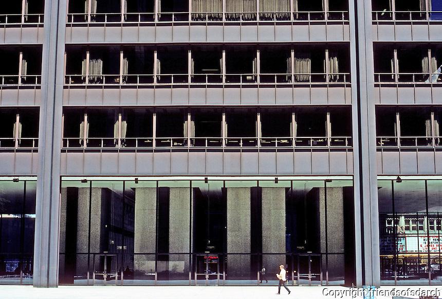 Chicago: Chicago Civic Center, 1965. C. F. Murphy Assoc. Photo '76.