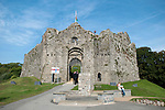 Oystermouth Castle in the small village of Mumbles near Swansea UK today.