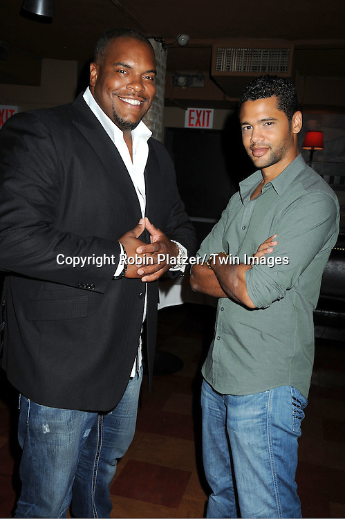 Sean Ringgold and Barret Helms attending the Shenell Edmonds Fan Club Dance Party on .August 14, 2011 at HB Burger's Sunken Bar in New York City. Shenell plays Destiny Evans on One Life to Live.