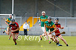 Micheal  Leane, Kerry in action against Liam Savage, Down during the National hurling league between Kerry v Down at Austin Stack Park, Tralee on Sunday.