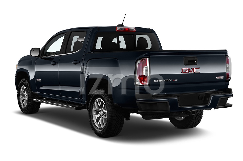 Car pictures of rear three quarter view of a 2019 GMC Canyon Allterrain 4 Door Pick Up angular rear