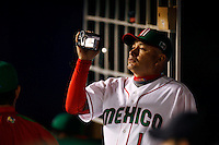 Juan Jose Pacho of Mexico during the World Baseball Championships at Angel Stadium in Anaheim,California on March 16, 2006. Photo by Larry Goren/Four Seam Images