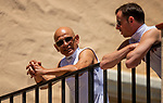 AUGUST 01, 2021: Mike Smith and Florent Geroux at Del Mar Fairgrounds in Del Mar, California on August 01, 2021. Evers/Eclipse Sportswire/CSM