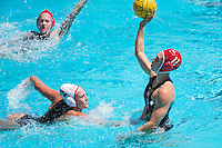 STANFORD, CA - April 16, 2016:  Stanford plays USC at Avery Aquatic Center. USC won 8-3.