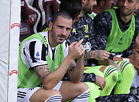 TORINO ITALY- October 2 <br /> Stadio Olimpico Grande Torino<br /> Leonardo Bonucci before the match<br /> during the Serie A match between Fc  Torino and Juventus Fc at Stadio Olimpico on October 2, 2021 in Torino, Italy.