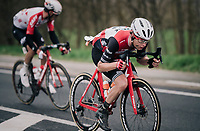Alex KIRSCH (LUX/Trek-Segafredo) tucked in<br /> <br /> 71th Kuurne-Brussel-Kuurne 2019 <br /> Kuurne to Kuurne (BEL): 201km<br /> <br /> ©kramon