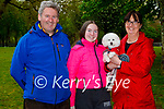 Enjoying a stroll in the Muckross Gardens Killarney on Sunday, l to r: James, Eva and Miriam Brosnan and Toby the dog.