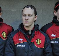 Qualification Women's Euro 2013 - Belgium - Iceland ; Belgie - Ijsland ; Armand Melis Stadion Dessel :.Julie Gregoire.foto DAVID CATRY / Vrouwenteam.be