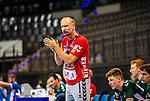 Hartmut Mayerhoffer (Trainer FRISCH AUF! Goeppingen) ; BGV Handball Cup 2020 Finaltag: TVB Stuttgart vs. FRISCH AUF Goeppingen am 13.09.2020 in Stuttgart (PORSCHE Arena), Baden-Wuerttemberg, Deutschland<br /> <br /> Foto © PIX-Sportfotos *** Foto ist honorarpflichtig! *** Auf Anfrage in hoeherer Qualitaet/Aufloesung. Belegexemplar erbeten. Veroeffentlichung ausschliesslich fuer journalistisch-publizistische Zwecke. For editorial use only.