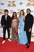 """LONDON, UK. October 09, 2019: Eyal Booker, Samira Mighty, Zara McDermott & Wes Nelson at the photocall for """"The X Factor: Celebrity"""", London.<br /> Picture: Steve Vas/Featureflash"""