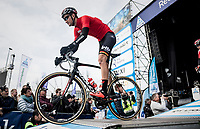 Tiesj Benoot (BEL/Lotto-Soudal) off the start presentation podium<br /> <br /> 60th E3 Harelbeke (1.UWT)<br /> 1day race: Harelbeke › Harelbeke - BEL (206km)