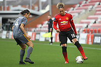 Lauren James (Manchester United Women) during the English Womens Championship match between Manchester United Women and Leicester City Women at Leigh Sports Village, Leigh, England on 10 March 2019. Photo by James Gill / PRiME Media Images.