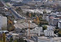 Stadtansichten 2009 - Blick vom Cityhochhaus / Uniriese auf den Bayrischen Bahnhof mit dem Portikus - Baustelle Citytunnel Station . Foto: Norman Rembarz..Norman Rembarz , ( ASV-Autorennummer 41043728 ), Holbeinstr. 14, 04229 Leipzig, Tel.: 01794887569, Hypovereinsbank: BLZ: 86020086, KN: 357889472, St.Nr.: 231/261/06432 - Jegliche kommerzielle Nutzung ist honorar- und mehrwertsteuerpflichtig! Persönlichkeitsrechte sind zu wahren. Es wird keine Haftung übernommen bei Verletzung von Rechten Dritter. Autoren-Nennung gem. §13 UrhGes. wird verlangt. Weitergabe an Dritte nur nach  vorheriger Absprache..