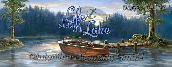 Dona Gelsinger, LANDSCAPES, LANDSCHAFTEN, PAISAJES, paintings+++++,USGE1913,#l#, EVERYDAY,lake,boat