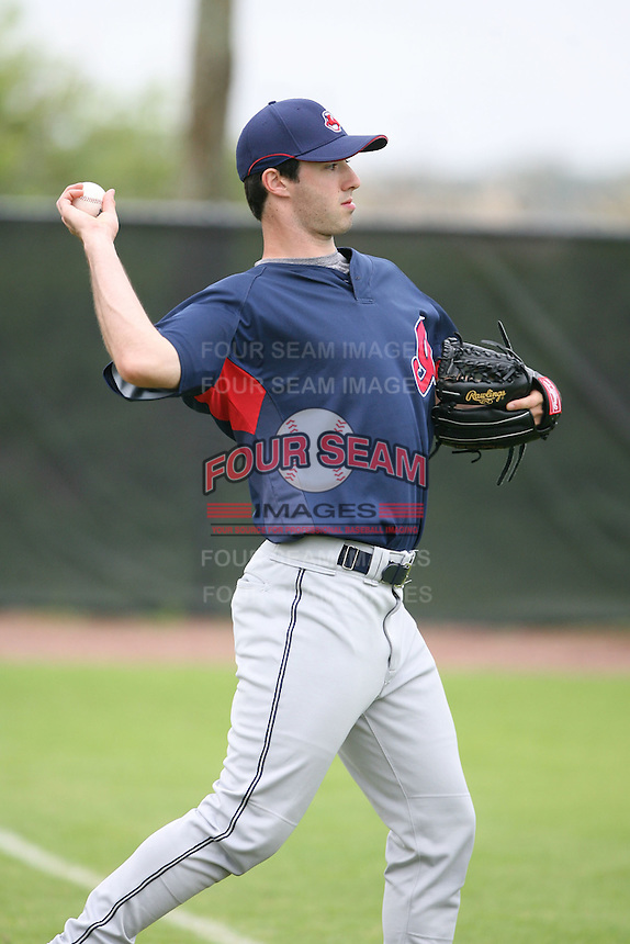 March 20th 2008:  Joey Mahalic of the Cleveland Indians minor league system during Spring Training at Chain of Lakes Training Complex in Winter Haven, FL.  Photo by:  Mike Janes/Four Seam Images