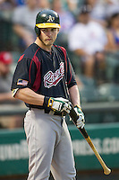 Sacramento River Cats outfielder Josh Reddick (26) on deck during the Pacific Coast League baseball game against the Round Rock Express on June 19, 2014 at the Dell Diamond in Round Rock, Texas. The Express defeated the River Cats 7-1. (Andrew Woolley/Four Seam Images)