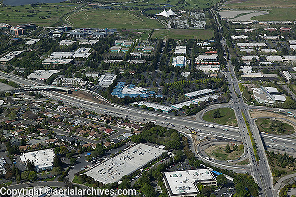 aerial photograph Mountain View, California