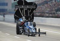Apr. 28, 2012; Baytown, TX, USA: NHRA top fuel dragster driver J.R. Todd during qualifying for the Spring Nationals at Royal Purple Raceway. Mandatory Credit: Mark J. Rebilas-