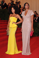 Solange Knowles and Rachel Roy at the 'Schiaparelli And Prada: Impossible Conversations' Costume Institute Gala at the Metropolitan Museum of Art on May 7, 2012 in New York City. ©mpi03/MediaPunch Inc.