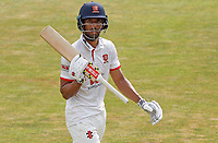 Feroze Khushi of Essex departs the field having scored 66 during Essex CCC vs Surrey CCC, Bob Willis Trophy Cricket at The Cloudfm County Ground on 8th August 2020