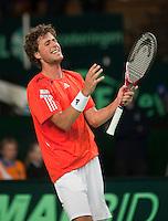 07-05-10, Tennis, Zoetermeer, Daviscup Nederland-Italie, Robin Haase  uit zijn frustratie